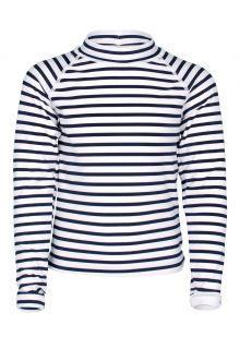 JUJA---UV-Badeshirt-für-Mädchen---Langärmlig---Sailor---Weiß/Blau