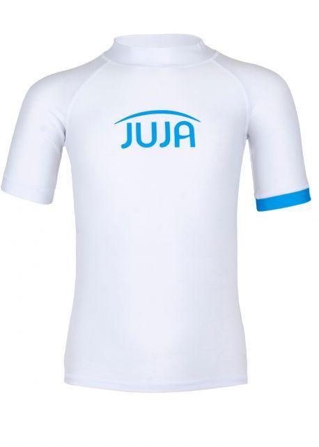 JUJA---UV-Badeshirt-für-Kinder---Kurzärmlig---Solid---Weiß