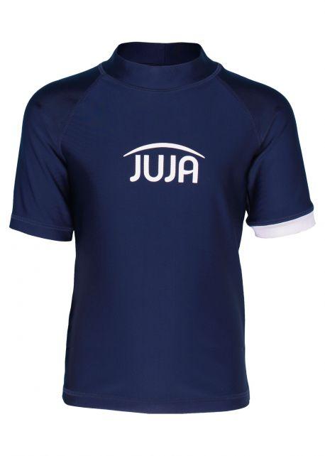 JUJA---UV-Badeshirt-für-Kinder---Kurzärmlig---Solid---Dunkelblau