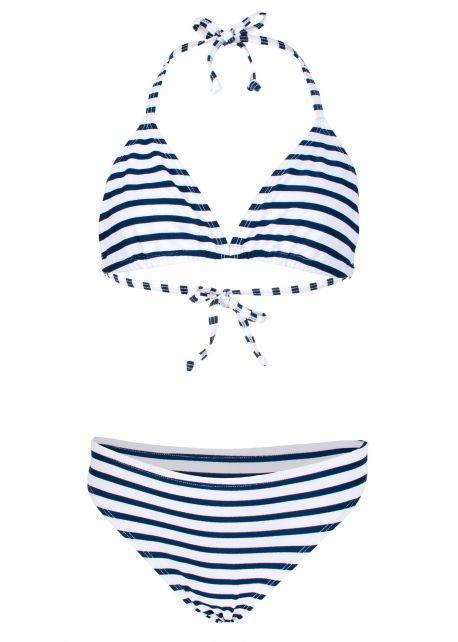 JUJA---Bikini-für-Mädchen---Stripy---Weiß/Blau