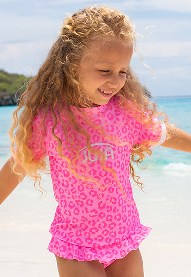 UV-Kleidung aus recycelten PET-Flaschen für Mädchen